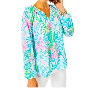 Lilly Pulitzer Willa Top Coral Bay NWT